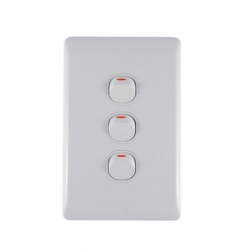 Switch 3 Lever Light Switch & Plate - Aokelan