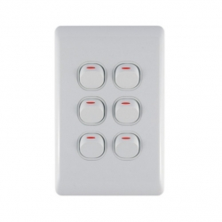Switch 6 Lever Light Switch & Plate - Aokelan