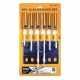 Screwdriver Set With Hanger 6Pce
