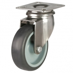 Castor Swivel with Grey wheel 75mm