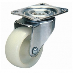 Castor Swivel with White wheel 75mm