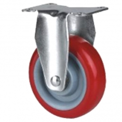Castor fixed with Red wheel 100mm