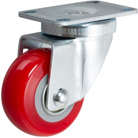 Castor fixed with Red wheel 125mm