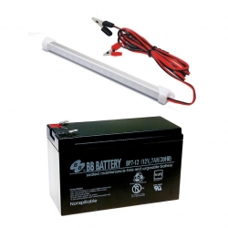 DC LED Bulb and Battery 12V