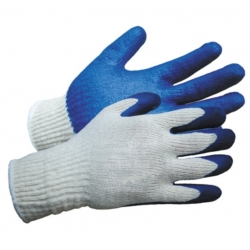 Glove Rubber Coated Heavy Duty Blue
