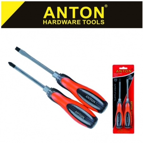 Screwdriver Set 2Pce Heavy Duty