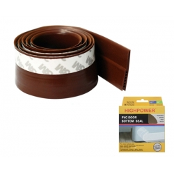 PVC Door Bottom Seal 2 X 28mm X 1000mm Brown