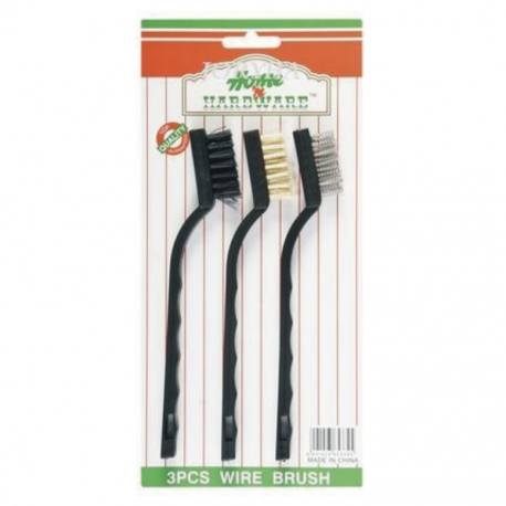 Brush Set 3PCE 7 inch Plastic Handle