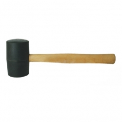 Mallet Rubber Wooden Handle 250gr