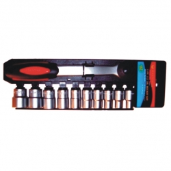 Socket Set 1/2' Drive Max Power Single Rail