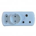 Plug Adapter 1X16A 1X5A 1X Shuko