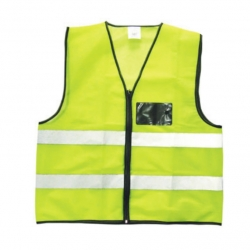 Safety Jacket With ID Pouch Lime