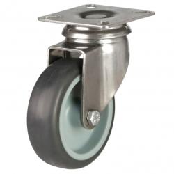 Castor Swivel with Grey wheel 125mm