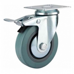 Castor Swivel with brake Grey wheel 125mm