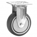 Castor fixed with Grey wheel 100mm