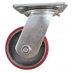 Castor Swivel with large Red wheel Heavy Duty 125mm
