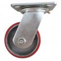 Castor Swivel with large Red wheel Heavy Duty 100mm