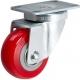 Castor Swivel with Red wheel 100mm