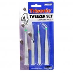 Tweezer set 4pc