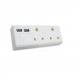 ADAPTER 2 X 16A 2 X USB
