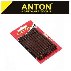 ANTON DOUBLE ENDED BIT SET 10PC PHIL 2x100MM