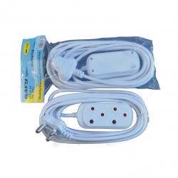 Extension Cord + 2 Way Plug 3M
