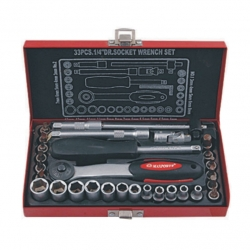 Socket Set 1/4 Metal Case 33Pce